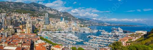 Fotobehang Formule 1 Monaco Monte Carlo city panorama