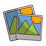 landscape photograph icon image vector illustration design
