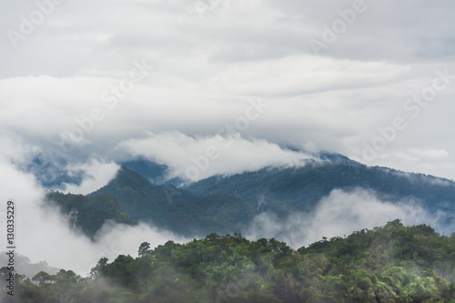 landscape of mountain and fog , Krabi ,Thailand - 130335229