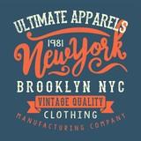 vintage style new york typography tee print