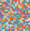Abstract coloful seamless texture pattern from sqaures. Vector illustration