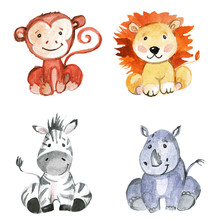 Cute baby animals for kindergarten, nursery, children clothing, pattern