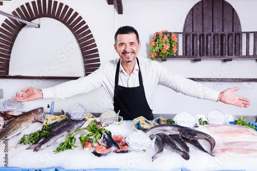 Fotobehang Palermo Fishmonger