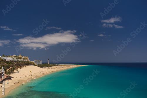 Deurstickers Canarische Eilanden Beach at Morro Jable , Jandia, Fuerteventura, Canary Islands