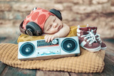 Portrait of the young newborn DJ