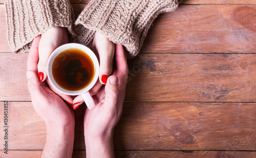 Papiers peints The Tea in woman hand