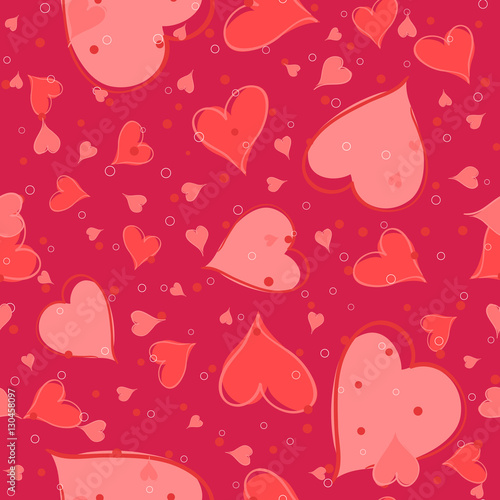 Cotton fabric Seamless valentine pattern. Vector illustration