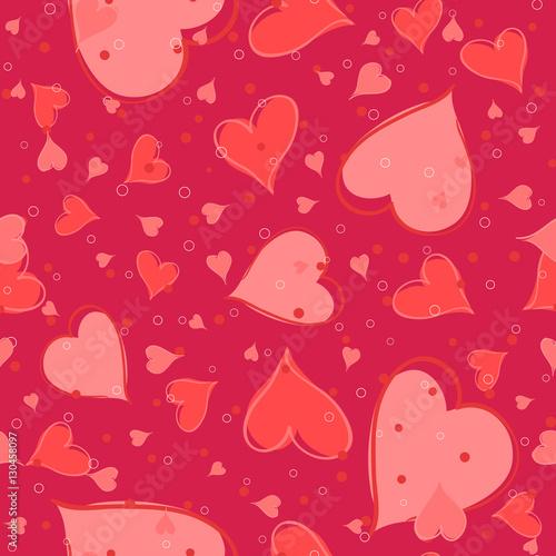 Cotton fabric Seamless valentine pattern. Vector illustration