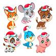 Funny Christmas farm animals