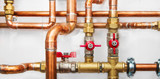 Copper valves and pipes - 130494474