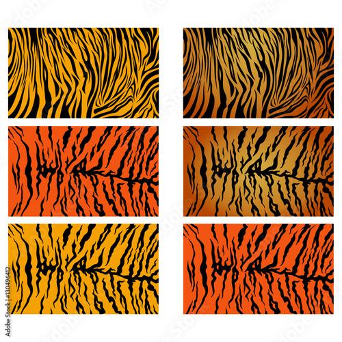 Realistyczne tygrysie paski wektor wzór tła zapasów kolekcja