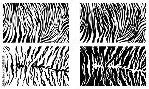 Czarny tygrys Paskuje Wektorowego wzoru tła Zapasu kolekcję