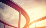 Fototapety urban overpass with sunlight retro effect image