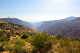 View of the Dana Biosphere reserve, Jordan
