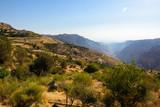 View of the Dana Biosphere reserve, Jordan