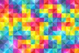 カラフル 虹色 モザイク 背景