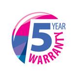 vector logo 5 years warranty