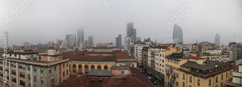 Foto op Canvas Milan Inquinamento urbano, Milano