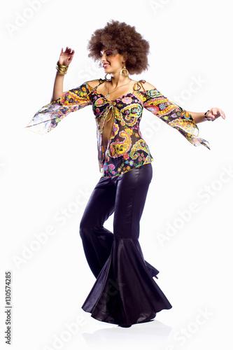Disco Dancing Woman - 130574285