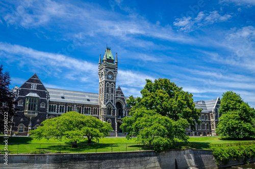 The University of Otago Registry Building, also known as the Clocktower Building Poster