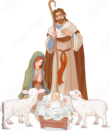 Tuinposter Sprookjeswereld Nativity scene