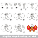Butterfly. Drawing tutorial.