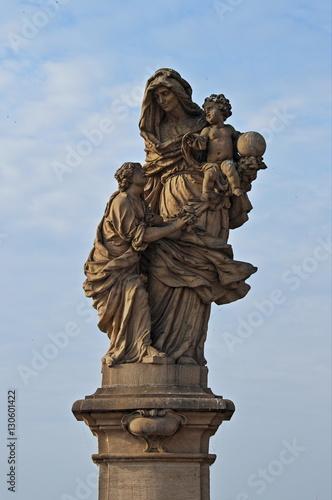 Statue of Saint Anna in Prague, Czech Republic Poster