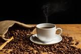 Taza de café con humo - 130617867