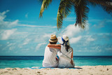 Fototapety happy loving couple on tropical beach