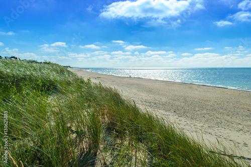 The sandy beach on the coast of the Baltic Sea - 130625883