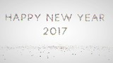 Happy New Year 2017, holiday element against white