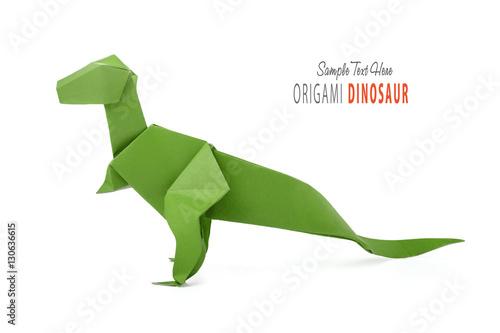 Poster Paper green dinosaur