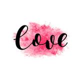 Love. Brush lettering vector illustration.