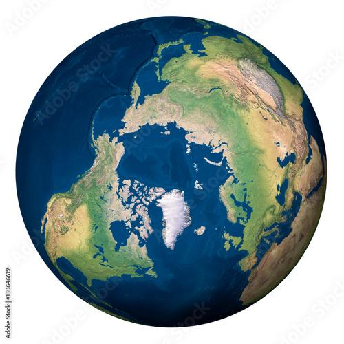 Plexiglas Planet Earth, North Pole - Pianeta Terra, Polo Nord