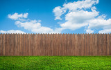 wooden garden fence at backyard - 130650636