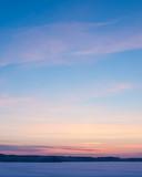 Serene sunset sky at winter - 130650881