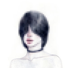 Woman portrait. Pixel art. Abstract illustration.  © Anna Ismagilova