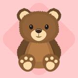 Cute fluffy teddy bear