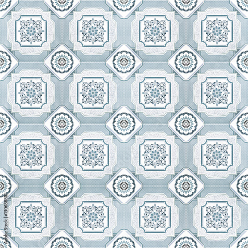 Pattern floor tile gray color for background - 130688801