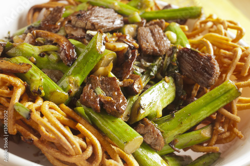Hong Kong Style Beef Chow Mein Poster