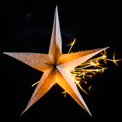 holiday star on black background