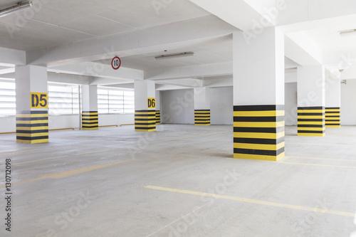 Empty underground parking garage Plakát