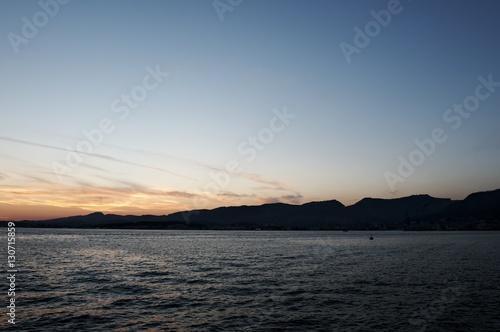 Poster Toulon - Coucher de soleil