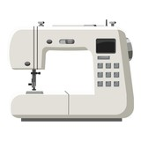Sewing machine icon. Cartoon illustration of sewing machine vector icon for web