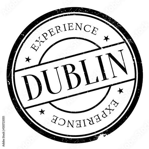 Poster Dublin stamp rubber grunge