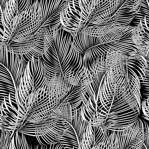 Materiał do szycia vector palms pattern