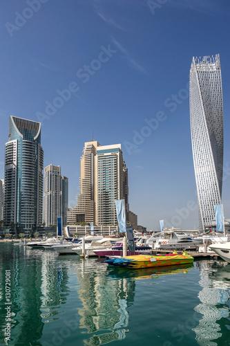 In de dag Dubai Dubai marina in the UAE