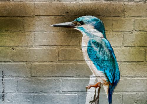 Art urbain, Martin-pêcheur