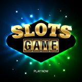 Slots game bright casino banner