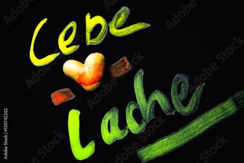 Poster Lebe Liebe Lache